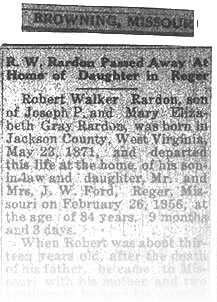 Robert Walker (R.W.) Obituary; click to view the obituary in JPG format.